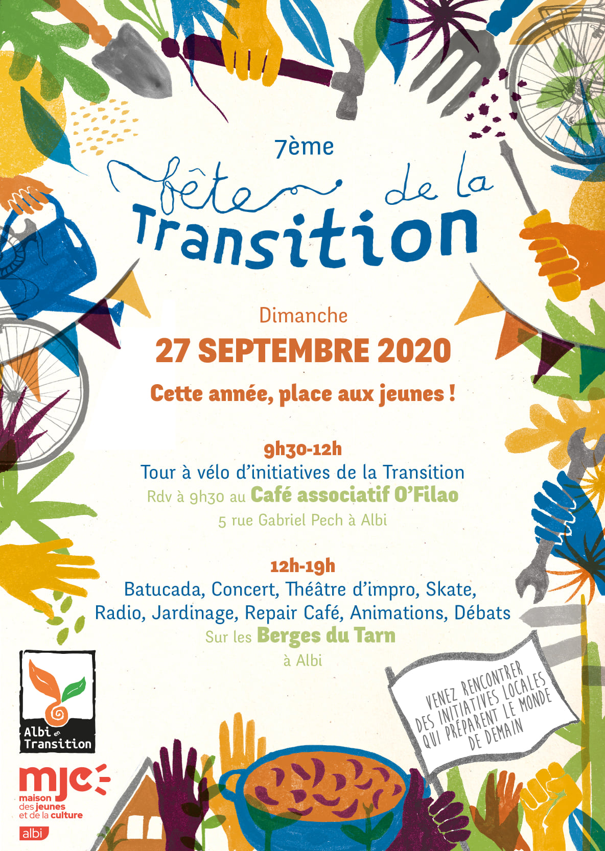 Dimanche 27 septembre : retrouvez-nous à la fête de la transition sur les berges du Tarn à Albi !
