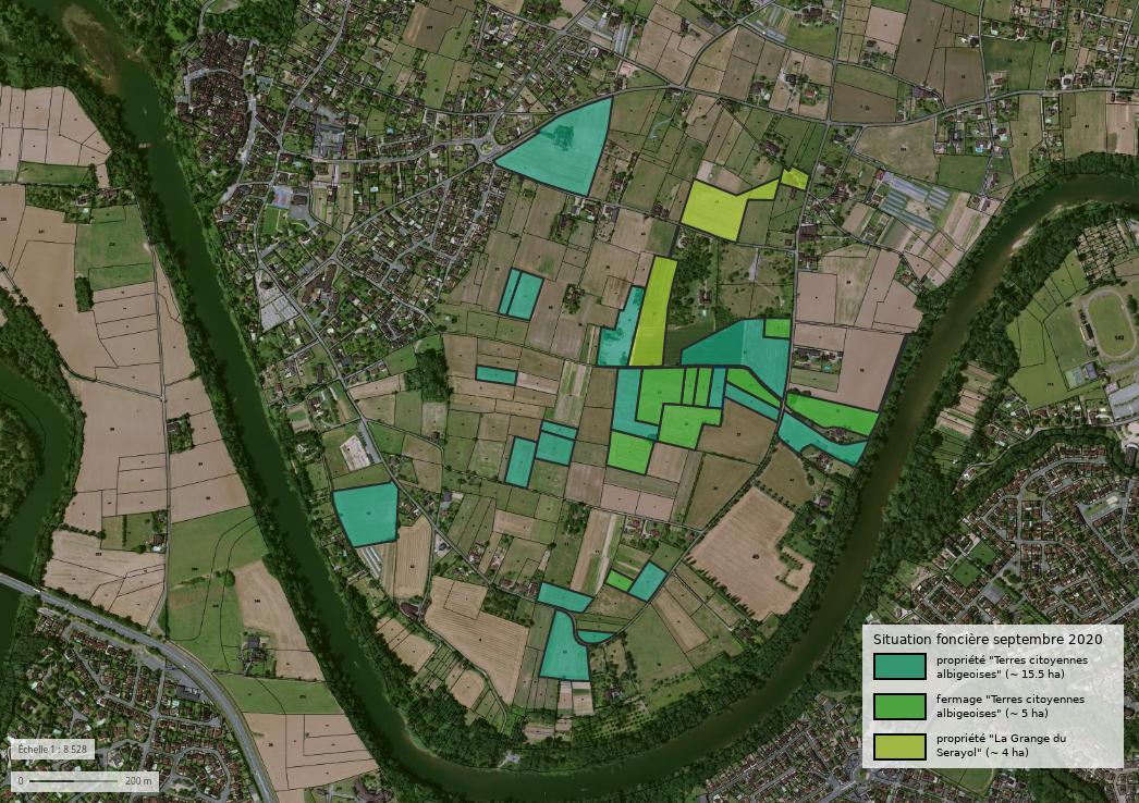 Ça y est, nous sommes propriétaires de 15,5 ha de terres agricoles à Lescure !